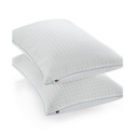Deals List: Calvin Klein Tossed Logo Print Density Down Alternative Gusset Pillow Standard