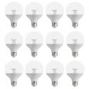 Deals List: EcoSmart 60-Watt Equivalent G25 Dimmable Clear LED Light Bulb Soft White (12-Pack)