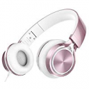 Deals List: AILIHEN MS300 Wired Headphones, Stereo Foldable Headset for iOS Android Smartphone Laptop Tablet PC Computer (Rose Gold)