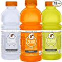 Deals List: Gatorade Zero Sugar Thirst Quencher, 3 flavor Variety Pack, 20 Ounce Bottles (Pack of 12)