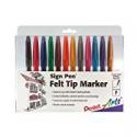 Deals List: Pentel Felt Tip Sign Pen, Set of 12 Assorted Colors (S520-12)