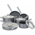 Deals List: Chopped Grey 10-Piece Nonstick Cookware Set with Silicone Strainer Lids