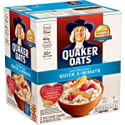 Deals List: Quaker Oats, Quick 1-Minute Oatmeal, Breakfast Cereal, 55 Servings, Two 40oz Bags in Box