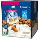 Deals List: Silk Almond Milk, Unsweetened Vanilla, 32 Fluid Ounce (Pack of 6), Vanilla Flavored Non-Dairy Almond Milk, Dairy-free Milk