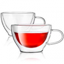 Deals List: 2 Kook Double Walled Borosilicate Insulated Glass Tea Cups