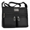 Deals List: Crossbody Bags for Women,Water Resistant Lightweight Nylon with 6 Pockets Bag Great Christmas Gifts by ZYSUN