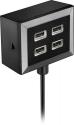 Deals List: Rocketfish™ - 4-Port USB Charger - Black, RF-HTC4818
