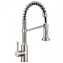 Deals List: JZBRAIN Commercial Kitchen Faucet with Dual Function Pull Down Stainless Steel Sprayer Spring Handle Single Hole Stream and Spray, Brushed