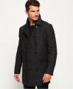 Deals List: Superdry Men's Remastered Wool Bridge Coat (Charcoal Herringbone)