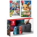 Deals List: Nintendo Switch Console w/Neon Joycon Controllers + Smash Bros + Pokemon