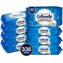 Deals List: Cottonelle FreshCare Flushable Wipes for Adults, Unscented Wet Wipes, Alcohol Free, 336 Wet Wipes per Pack (Eight 42-Count Resealable Soft Packs)