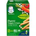 Deals List: Gerber Graduates Organic Veggie Crisps, Orange, 5 Count (Pack of 2)