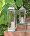 Deals List: Ravello 22 in. Candle Tapered Lantern in Polish Silver