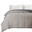 Deals List: Bedsure Down Alternative Comforter Twin Size Dark Grey Light Grey Reversible Comforter Microfiber Duvet Insert, twin size