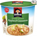 Deals List: Quaker Instant Oatmeal Express Cups, Apples & Cinnamon, Breakfast Cereal, 12 Cups