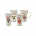 Deals List: 222 Fifth Paisley Ornaments Latte Mugs (Set of 4)