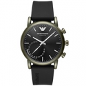 Deals List: Emporio Armani Mens Connected Black Rubber Strap Smart Watch