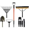 Deals List: The Handler System Lawn and Garden 5-Piece Tool Set with Garage Storage System