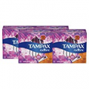 Deals List: Tampax Radiant Tampons with Plastic Applicator, Super Plus Absorbency, Unscented, 32 Count, Pack of 4 (128 Count Total)