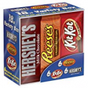 Deals List: Hershey Candy Bar Assorted Variety Box (HERSHEY'S Milk Chocolate, KIT KAT, REESE'S Cups), Full Size, 18 Count