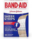 Deals List: Band-Aid Brand Sheer Strips Adhesive Bandages for First Aid and Wound Care, All One Size, 40 ct