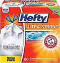 Deals List: Hefty Ultra Strong Trash Bags (Clean Burst, Tall Kitchen Drawstring, 13 Gallon, 80 Count)