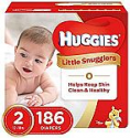 Deals List: HUGGIES Little Snugglers Baby Diapers, Size 2, for 12-18 lbs., One Month Supply (186 Count)