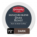 Deals List: Community Coffee Signature Blend Dark Roast Single Serve, Compatible with Keurig 2.0 K Cup Brewers, Full Body Bold Taste, 100% Arabica Coffee Beans, 12 Count, Pack of 6