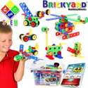 Deals List: 163 Piece STEM Toys Kit | Educational Construction Engineering Building Blocks Learning Set for Ages 3 4 5 6 7 8 9 10 Year Old Boys & Girls by Brickyard | Best Kids Toy | Creative Games & Fun Activity