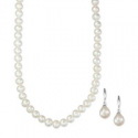 Deals List: Cultured Freshwater Pearl Necklace and Drop Earrings Set