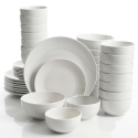 Deals List: Gourmet Expressions Brentwood 40-Piece White Soft Square Dinnerware Set