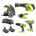 Deals List: Ryobi P1982N 18-Volt ONE+ 5-Tool Combo Kit with Drill Bundle