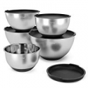Deals List: X-Chef Stainless Steel Mixing Bowls Set w/5 Lids
