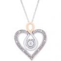 Deals List: Macy's Diamond TwoTone Heart 18 Inch Necklace