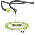 Deals List: Sennheiser PMX 684i In-Ear Neckband Sports Headphone Kit for iOS Devices (2 Pair)