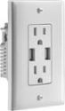 Deals List: Insignia™ - 3.6A USB Charger Wall Outlet - White, NS-HW36A217