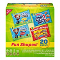 Deals List: Nabisco Fun Shapes Cookie & Cracker Mix, Variety Pack with Teddy Grahams, Chips Ahoy! Cookies & Barnum's Animal Crackers, 20 Count Individual Snack Bags