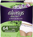 Deals List: Always Discreet Incontinence & Postpartum Underwear for Women, Disposable, Maximum Protection, Small/Medium, 32 Count- Pack of 2 (64 Count Total)