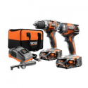 Deals List: RIDGID X4 18-Volt Cordless Drill and Impact Driver Combo Kit