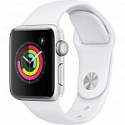 Deals List: Apple Watch Series 3 (GPS, 38mm) - Silver Aluminium Case with White Sport Band