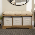 Deals List: Manor Park 42-Inch Modern Farmhouse Entryway Storage Bench