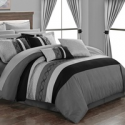 Deals List: Didith Color-Block Embroidered Bed-in-a-Bag Comforter 24-Pc