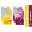 Deals List: HALLS Sugar Free Cough Drops Honey Lemon & Black Cherry Variety Pack - 150 total drops
