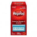 Deals List: Omega-3 Fish Oil 500mg - Megared Extra Strength 90 softgels - Krill Oil No fishy aftertaste