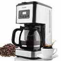 Deals List: Coffee Maker Barsetto 10 Cup Coffee Machine Stainless Programmable Setting Silent Operation Drip Coffeemaker with Coffee Pot and Filter for Home and Office
