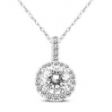 Deals List: Diamond Cluster Love Knot Pendant In .925 Sterling Silver