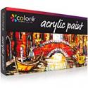 Deals List: COLORE Vibrant Life Acrylic Paint Set of 48 (22ML Tubes) with VibrancePro Rich Pigment Technology