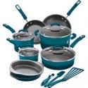 Deals List: Rachael Ray 15 Piece Hard Enamel Aluminum Nonstick Cookware Set