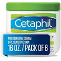 Deals List: Cetaphil Moisturizing Cream for Very Dry/Sensitive Skin, Fragrance Free, 16 Ounce, (Pack of 6)