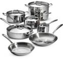Deals List: Tramontina 12-Piece Tri-Ply Clad Stainless Steel Pots Pans Lids Cookware Set